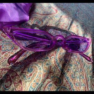 Cute Purple Cateye Sunnglasses